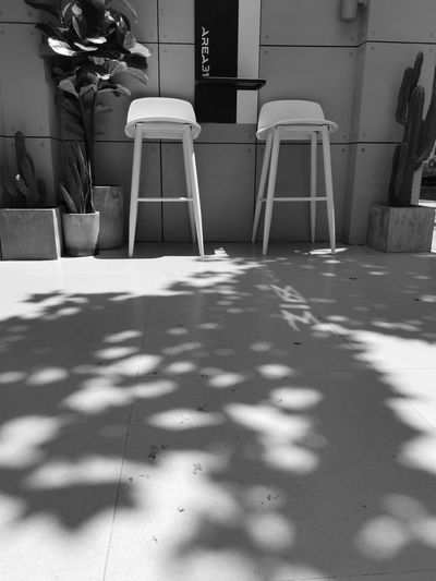coffeehouse Coffee Shop With A View Chair Table Outdoor Chair Focus On Shadow