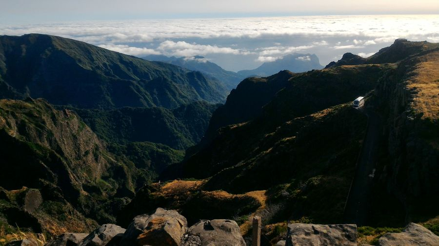 In Madeira on the way up to Pico Do Arieiro. Mountain SkyBeauty In Nature Nature Landscape Scenics