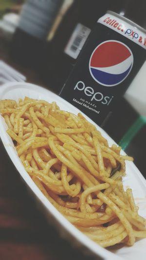 Macaroni Pepsi Yummy Delicious ♥