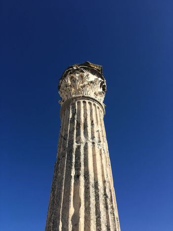Roma Low Angle View Blue History Architectural Column No People Day (null)Clear Sky (null)Ancient Travel Destinations Close-up Outdoors Architecture Sky Ancient Civilization Tunisia Tunisia <3