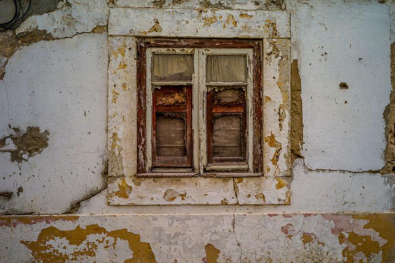 The window Abandoned window Abandoned Closed Damaged Decline Deterioration House Old Window