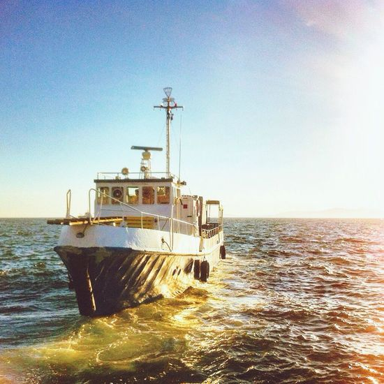 Sea Nautical Vessel Transportation Mode Of Transport Outdoors Clear Sky No People Water Day Sky Horizon Over Water Sea