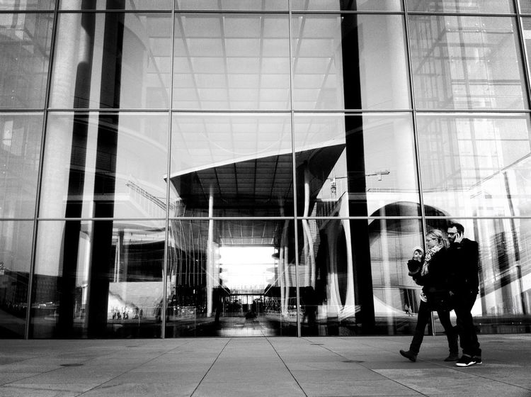 Streetphoto_bw Urban Reflections The Minimals (less Edit Juxt Photography) Admiring The Architecture