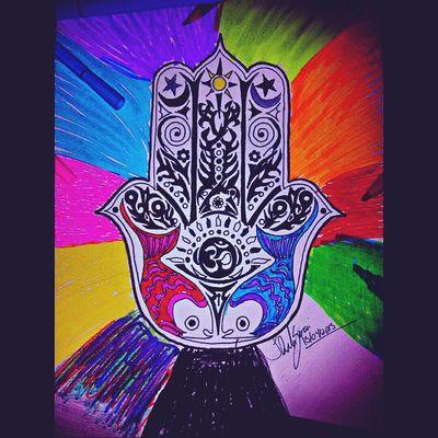 Drawing Sketch Mandala Hamsa Omn Art