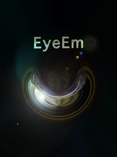 EyeEm, too :) Abstract Black Color Circle Close-up Dark EyeEm Best Shots Eyeem Logo Geometric Shape Glowing Illuminated Light Modern Night No People