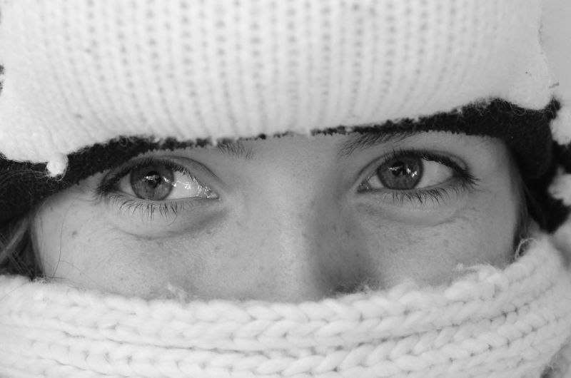 Just a little bit bored Blackandwhite Candid Human Eye Human Face Looking At Camera People Portrait Winter Young Adult