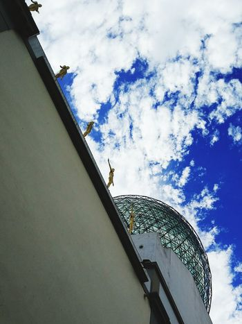 Cloud - Sky Sky Low Angle View Architecture Built Structure No People Outdoors Modern City Dali Museum Museum Dali Figueres Emporda Empordapower