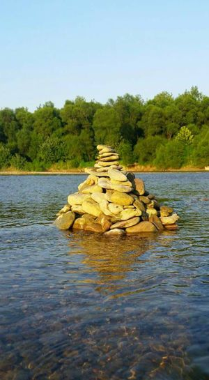 Pile Of Rocks Pile Of Stones Water River Whitewater River Ohio, USA