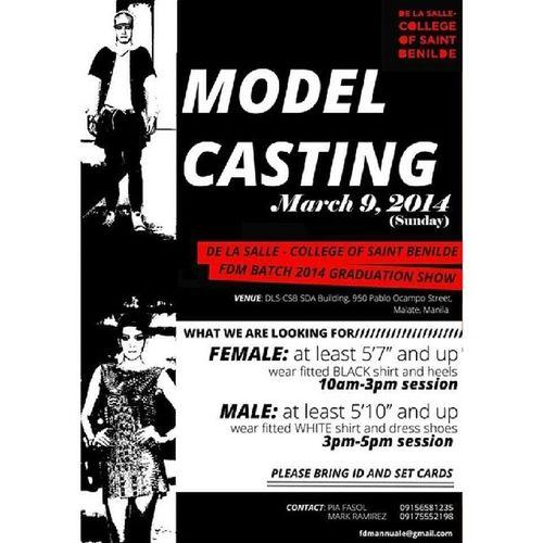 Casting Call!!! Benilde FDM2014 Runway Topmodels castingcall