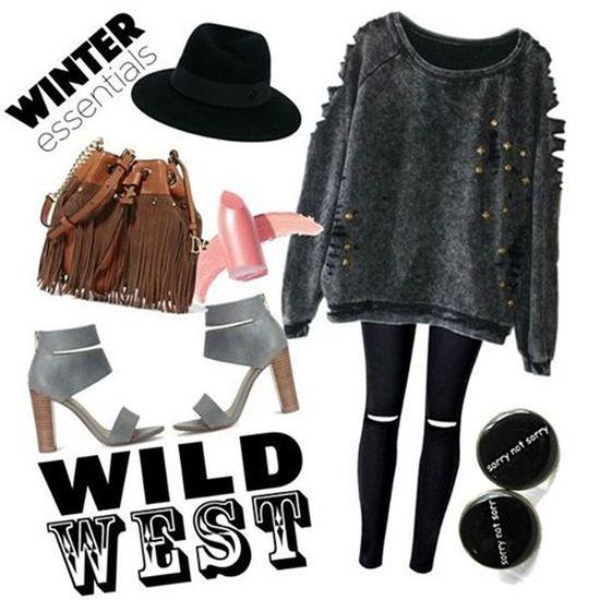 Outfitoftheday Winter Wild Fashion