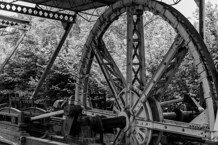 Abandoned train at railroad station