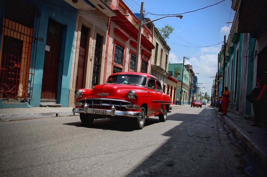 Cuba Streets Mode Of Transport Been There, Done That Red Outdoors Street Photography Cuba collections Vintage Car Cuba