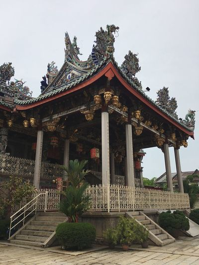 One of the famous chinese mansion at Penang Penang ShotOnIphone Penang Sky Plant Tree Building Exterior Nature