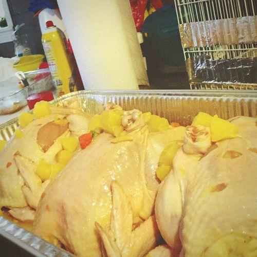 Happy Thanksgiving Days my Sister preparing turkeys 🐔💜