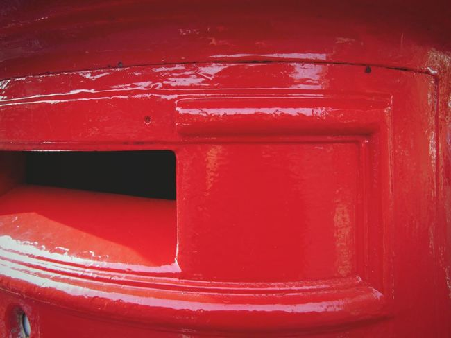 """""""in the post....."""" Postbox Red Post Box English Royal Mail red Paint Close-up Outdoors Shiny Glossy Gloss, Shine, Luster, Splendor, Sheen, Sparkle Lindsay's Shiny Things Lindsay's Urban Discoveries"""