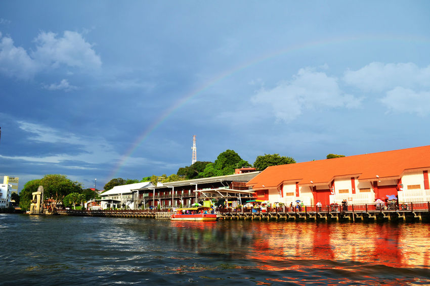 #Malacca #building #clouds  #exterior #landscape #nature #photography #malaysia #rainbow #river #rivercruise #scenery #historical