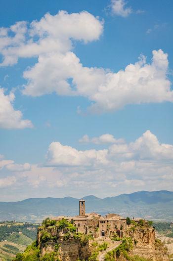 Civita di bagnoregio and beautiful sky