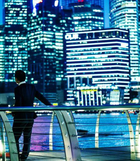 Singapore Landscape Marina Bay Businessman EyeEm Best Shots Cityscape