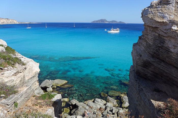 Rock Formation Sicilia Sicily Aegean Islands Cala Rossa Clear Water Favignana Turquoise Water