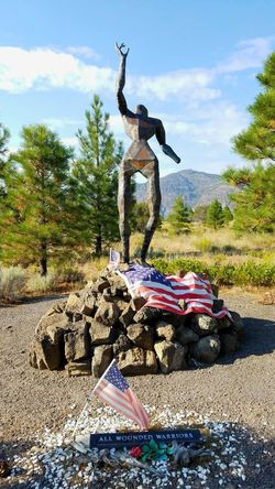 'All Wounded Warriors ' Living Memorial Veteran's Sculpture Garden Weed, CA Statue Honoring The Fallen Mountain Sadness Memorial Injury Missing Arm/hand Wounded Injury Cloud - Sky Veterans Memorial Painful Service To Country Sculpture Dramatic Remembering Mindful Servicewomen Serviceman Memories Emotional The Week On EyeEm