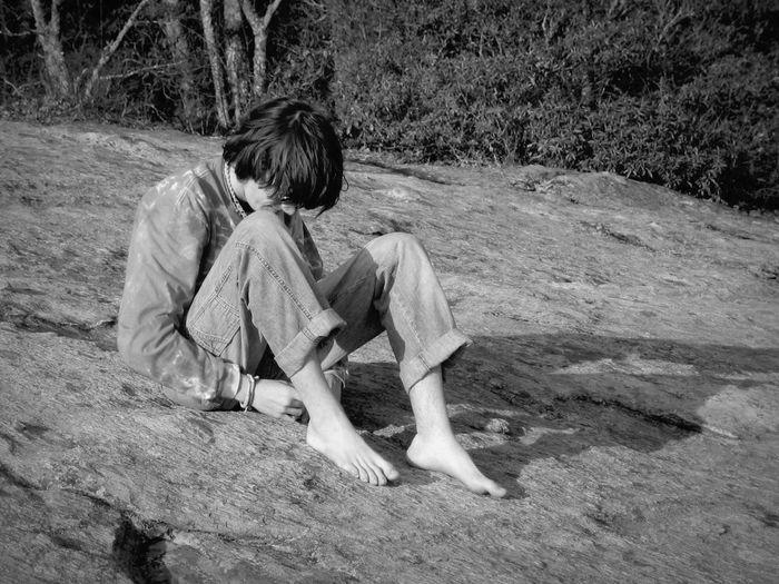 A boy and his mountain The Human Condition Appalachia Boone Appalachian Mountains South Blackandwhite B&W Portrait The Portraitist - 2015 EyeEm Awards