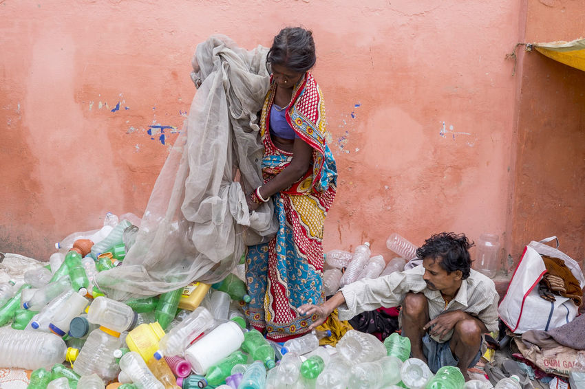 Discarded water bottles being collected at the Sonepur Mela festival, Bihar Bihar Bottles Bottles Collection Collection Discarded Environment Environmental Issues Full Length Hajipur India Plastic Bottle PLASTIC CONTAINER Poor  Recycle Refuse Refuse Collection Sonepur Sonepurmela Travel Travel Photography Water Bottle