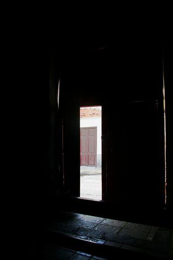 Architecture Dark Day Daylight Door Doorway Empty Entry Indoors  Myterious No People Open Door