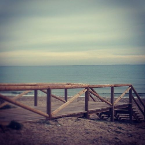 Vía Maritima Guardamar Alicante Muellepaseo Invierno Mar Beachphotography Atardecer SPAIN