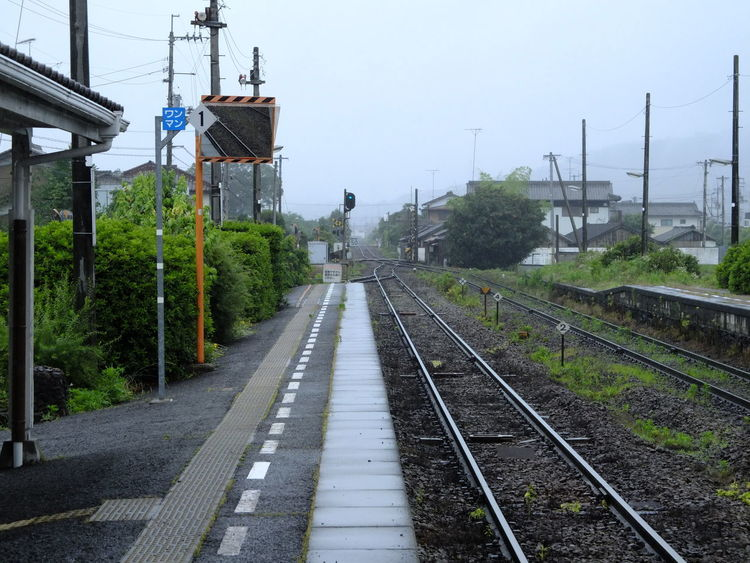 雨の日 電車旅 Rainy Days Leftside Train Platform Train Station TOWNSCAPE Railroad Railway Vanishing Point Lines Tokushima Travel Photography From My Point Of View Capture The Moment EyeEm Best Shots No Filter/no Edit