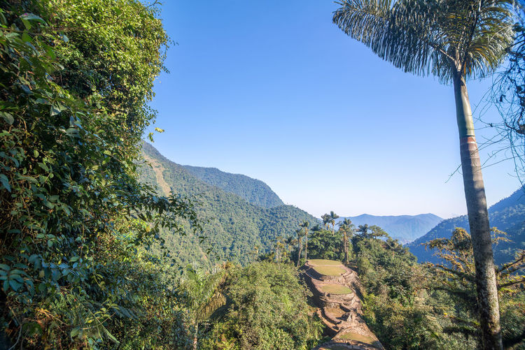 Scenic View Of Mountains Against Clear Sky At Sierra Nevada De Santa Marta