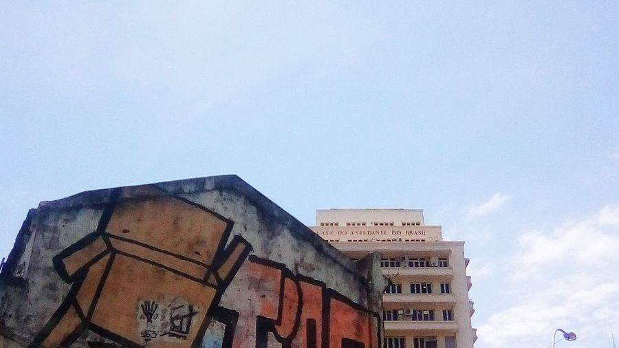 Casa Do Estudante Do Brasil Architecture Built Structure Building Exterior Day Sky Low Angle View Outdoors No People Prison Graffiti Graffiti Art EyeEm Ready   Colour Your Horizn