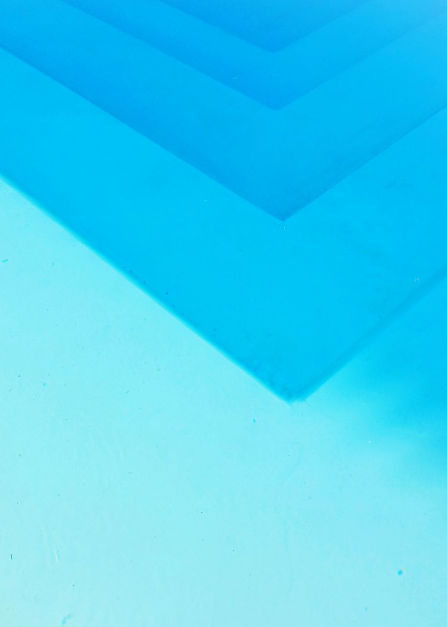 blue, full frame, backgrounds, pattern, no people, close-up, indoors, high angle view, wall - building feature, white color, textured, abstract, copy space, geometric shape, built structure, day, architecture, design, paper, shape, turquoise colored, blue background
