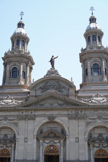Architecture Catedral De Santiago Catedral Metropolitana De Santiago Church Iglesia Católica  No People Plaza De Armas - Santiago Santiago De Chile