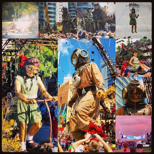 This Throwbackthursday  is back to the incredible weekend Walkingwithgiants ! The LittleGirlGiant & TheDiver along with the fantastic lilliputians brought an experience to perthfest that not enough superlatives in any language could accurately describe. inspirational theGiants perthfestival perthinternationalartsfestival perthlife giantsperth giantlife tbt