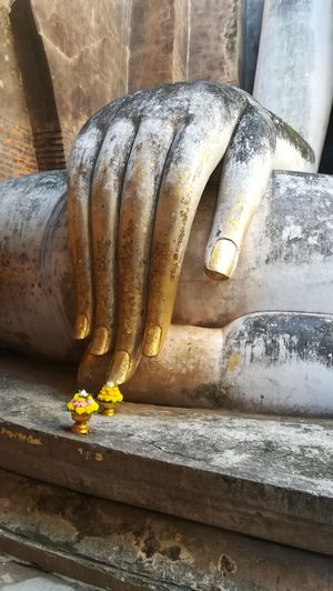 Spirituality . Life is in your hand ASIA The Week On EyeEm Taking Photos Fingers Hand The Purist (no Edit, No Filter) Travel Photography Thailand Buddha Buddhism Buddha Statue Spirituality Religion Building Exterior Statues No People Close-up Day Indoors  Freshness