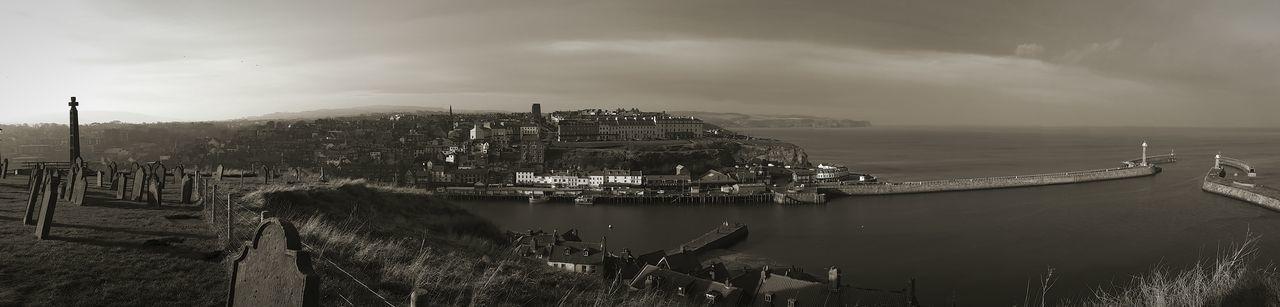 Panoramic View Of Seaside Town