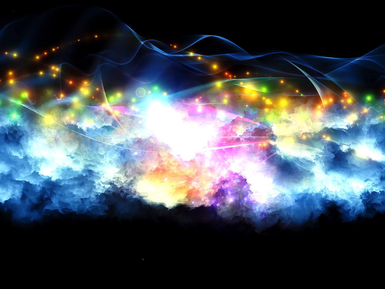night, light trail, illuminated, multi colored, black background, long exposure, motion, outdoors, studio shot, no people, technology, close-up, nature, lightning, sky, astronomy