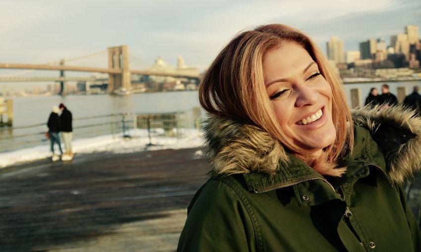 Beautiful Woman City Females Portrait Sky Smiling