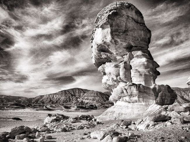 Rocks in the Desert of Sinai The Traveler - 2015 EyeEm Awards EyeEm Best Shots - Black + White Blackandwhite Creative Light And Shadow Protecting Where We Play Clouds And Sky Edge Of The World Grey Majestic Majestic Nature Blackandwhite Photography Rock Formation Cloud - Sky Landscape Miles Away #FREIHEITBERLIN