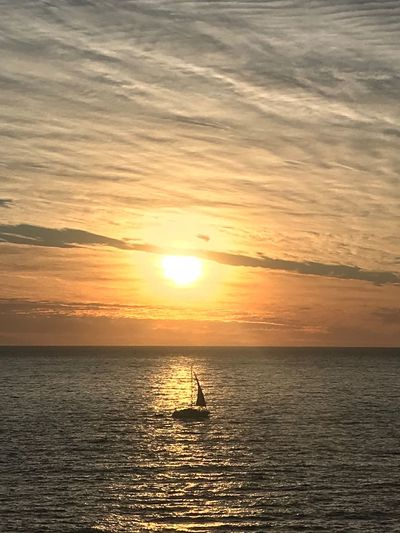 Early morning sailing Sea Sun Tranquil Scene Sunrise_Collection Sunrise_sunsets_aroundworld Sydney Sunrise And Clouds