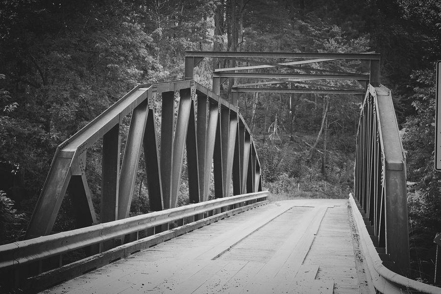 Georgia Nature BLCK&WHT Bridge One Lane Bridge Dawsonville, Ga