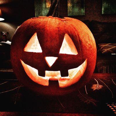 Halloween 2016 Pumpkin Jack O Lantern Halloween Anthropomorphic Face No People Night Orange Scary Jackolantern