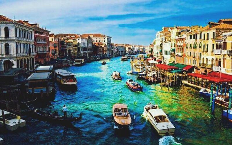 Venedik,Italyar Rainy Day
