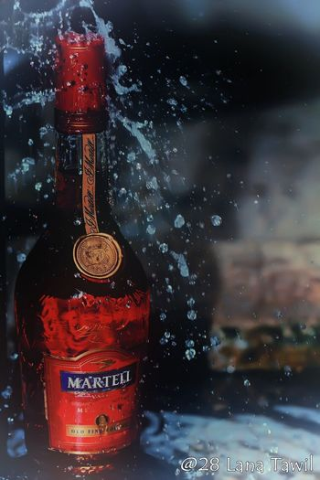 Martell Drop Rain Bottle RainDrop Water Freshness Wine Not