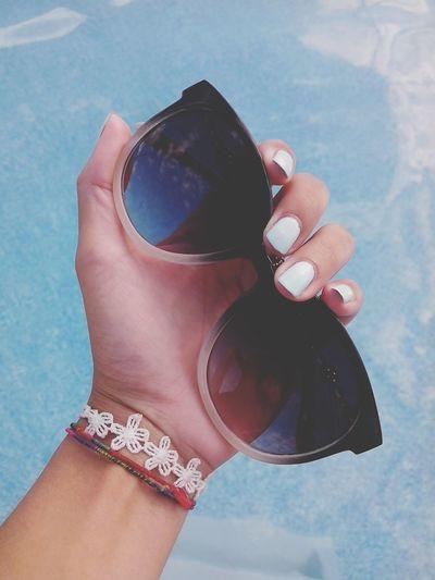 Sunglasses Nails Pool Summer