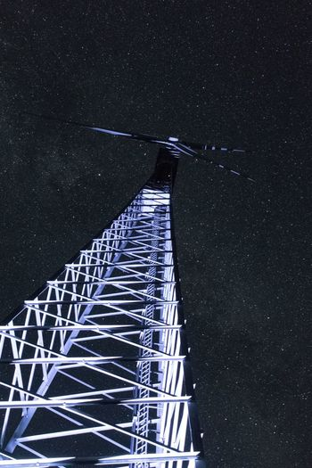 Wind Power Station Night Astronomy Star - Space Constellation Star Field Long Exposure Space Outdoors Sky Building Exterior Astrology Sign Clear Sky Architecture Towers And Sky Ilumination Technology Everywhere Light In The Darkness Fresh On Market 2017