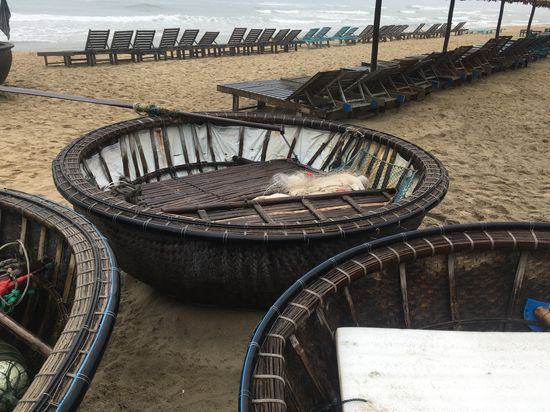 Basket boats of An Bang, Hoi An Basket Boats EyeEm Selects High Angle View Day Outdoors No People Architecture