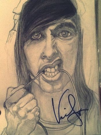 My mothers drawing of Vic Fuentes:') Drawing Vic Fuentes Pierce The Veil