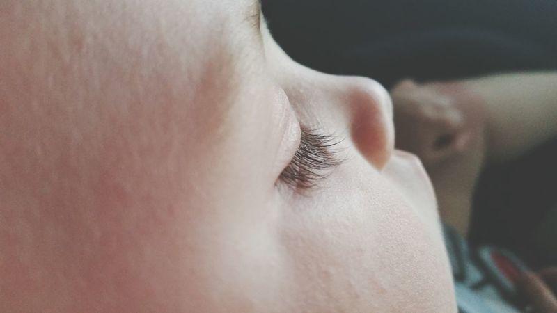 Baby Sleeping Eyelashes Color Cutness