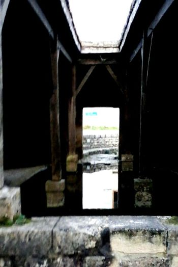 Reflections And Shadows Tablet photography Architecture Built Structure Invitatation To The Unknone A Long Time Ago A Lavoir In France